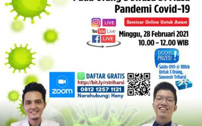 Seminar Online Awam – Pentingnya Vaksinasi Pneumonia Pada Orang Dewasa Di Masa Pandemi Covid-19